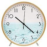 ALEENFOON Reloj de Pared de Madera de Cuarzo de 30 cm, Moderno, silencioso, no Hace tictac, Reloj de Pared de Madera, Reloj de Mesa para Sala de Estar, Dormitorio, Oficina, Cocina