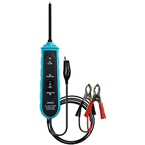 6V-24V DC Current Tester with Long Probe//Alligator Clip//Indicator Light for Quickly Check Car Circuits//Fuses//Switches and Low Voltage Systems Automotive Circuit Tester