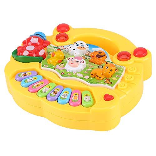 YOUTHINK Baby Musical Educational Piano Toy Animal Farm Giocattoli Musicali per Lo Sviluppo Bambini Regali per Bambini con Musica e Illuminazione per 6+ Mesi(Giallo)