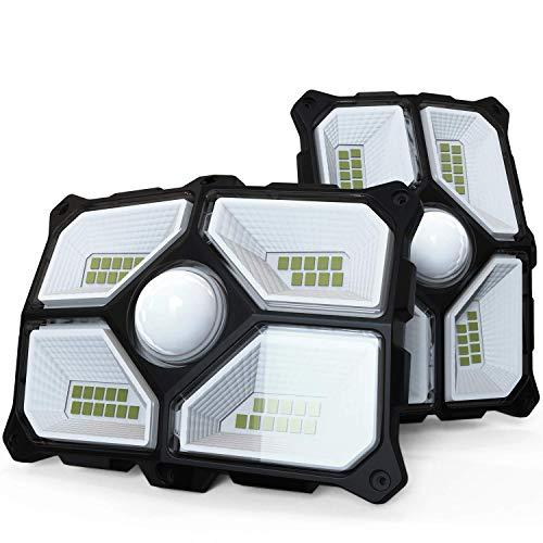 Solarlampen für Außen mit Bewegungsmelder 2 Stück Solarleuchte Aussen 40 LED 200 Lumen, Solar Wasserdichte Wandleuchte Solar Garten