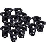 Wonninek 20 Piezas Maceta de Taza de plástico Duradera jardín de plástico Neta vivero Canasta de Cubo jardín hidropónico balcón plantación Cesta (Negro)