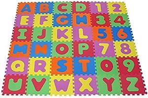 Knorrtoys 21004 Alfabet och Nummer Pusselmatta av Skum, 86 Delar, Flerfärgad