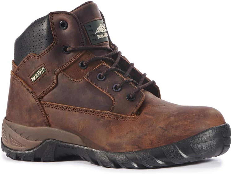 Rock Fall RF440B Flint 9 Safety Boot, Brown, 9