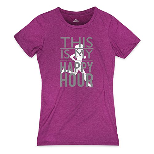 Gone For a Run This is My Happy Hour Women's T-Shirt | Runners Tees Lush Berry | Adult Medium