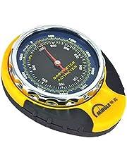 GMM Lifestyle 4 en 1 brújula altímetro barómetro termómetro para deportes al aire libre escalada camping con mosquetón camping senderismo bolsillo