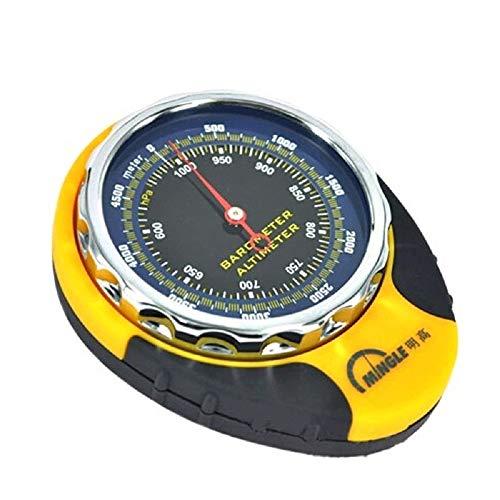 GMM Lifestyle 4 in 1 Kompass Höhenmesser Barometer Thermometer für Outdoor Sport Klettern Camping mit Karabiner Camping Wandern Tasche