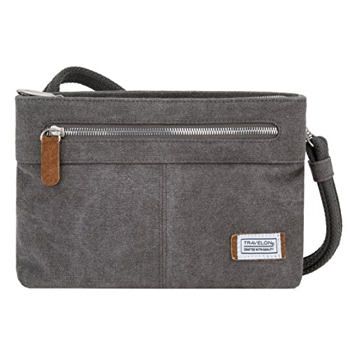 Travelon Women's Anti-Theft Heritage Small Crossbody Cross Body Bag, Pewter, One Size - 33226 540