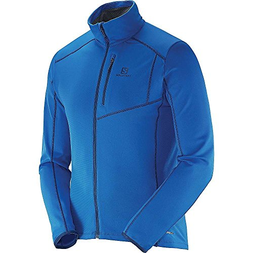 SALOMON Herren Fleecejacke Discovery Full Zip M Union Blue