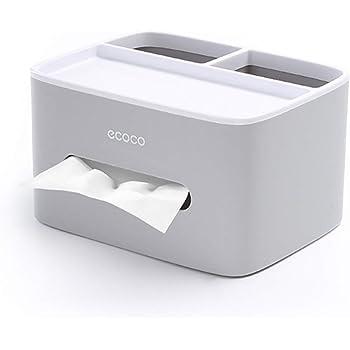 MHTECH Caja De Pañuelos Multifunción, Mando a Distancia y Soporte de pañuelos, Organizador con Caja de pañuelos - Gris: Amazon.es: Oficina y papelería