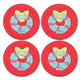Keenso Eishockey Pucks, 4 Stück 65mm Mini Tisch Pucks Eishockey Pucks Air Hockey Ersatz Pucks...