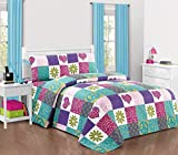 Fancy Collection 4pc Sheet Set Teens/Girls Safari Pink Purple Peace Sign New Full Size