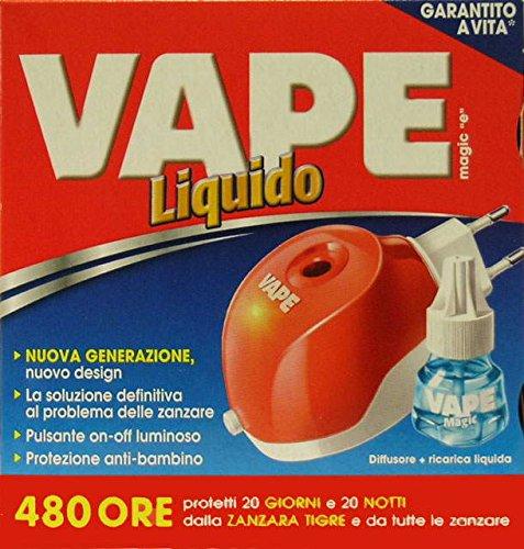 12 x VAPE Emanatore Elettrico Antizanzare Liquido + Ricarica