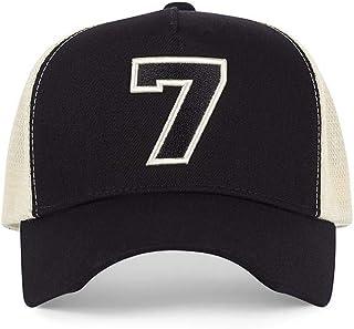 #7 Black Trucker Hat