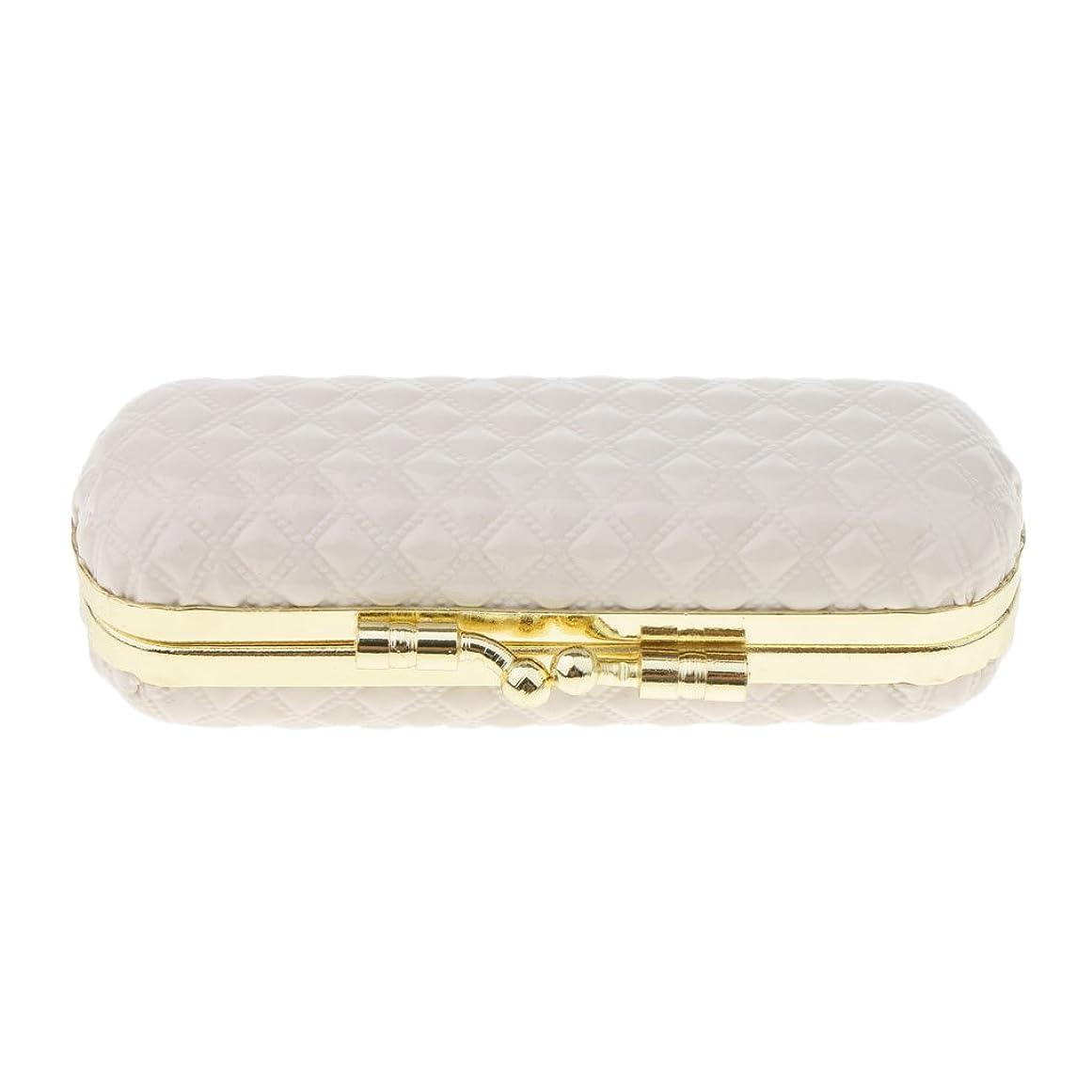 論理とても多くのレンズBaosity 化粧ポーチ 口紅ホルダー リップスティック リップグロス 収納ケース ミラー付き 可愛い 小物収納 携帯用 6タイプ - 白