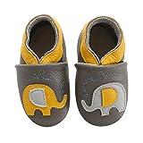 koshine - Zapatillas de bebé de piel suave, para aprender a andar, 0-3 años,...