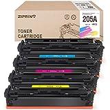 ZIPRINT 4 Multipack Compatible HP 205A HP CF530A CF531A CF532A CF533A Toner para HP Color Laserjet M154A, M154NW, M180, M180N,M181, M181FW