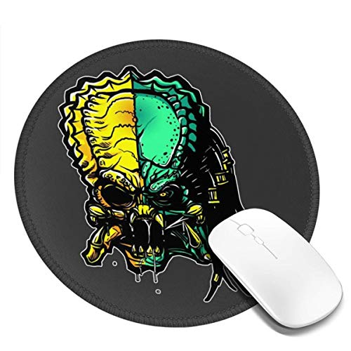 Cranium Alien Vs Predator Customized Designs Non-Slip Rubber Base Gaming Mouse Pads for Mac,7.9x7.9 in, Pc, Computers. Ideal for Working Or Game