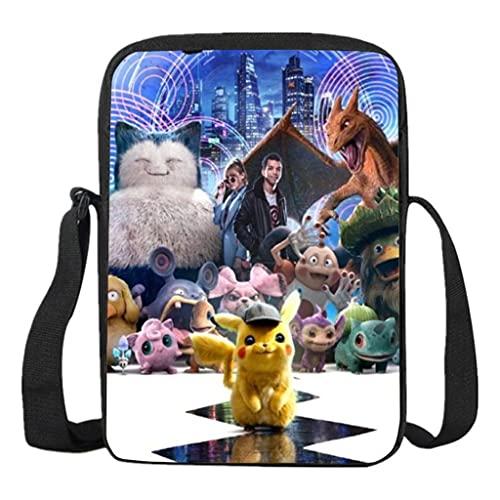 Mochila Pokemon Infantil, Mochila Detective Pikachu Escolar para Niños y Niñas Unisex Bolsas de Hombro para Adolescentes Portátil Viaje Hombro Mochila Backpack para Niño y Niña (341)