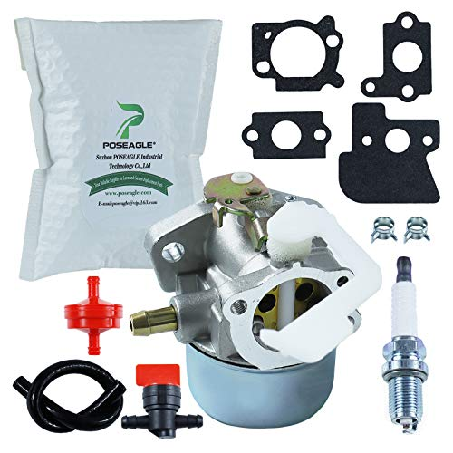 POSEAGLE 690152 698055 Carburetor with 698183 Fuel Shutoff Valve Tune-Up Kits for 694203 121602 121607 121612 122602 122612 128612 Lawnmower Generator Engine