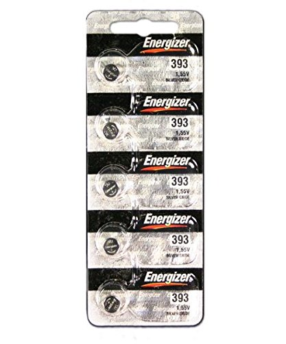 Energizer 393 / SR754W 1.5V Button Battery, Watch Battery - 5 Pieces