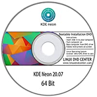 KDE neon Linux 20.07 Live (64Bit) - Bootable Linux Installation DVD