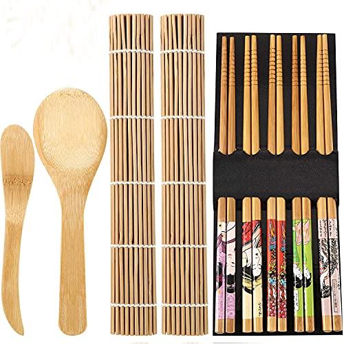 Juego de herramientas de sushi Pequeño rollo compacto Para hacer un grupo de arroz de algas marinas es un conjunto de herramientas, cada conjunto de 9,A
