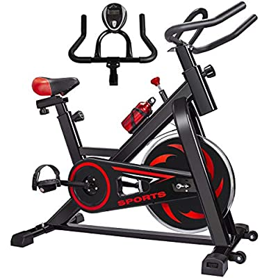 Exercise Bike FutureCharger Belt Drive Indoor Cycling Bike, Stationary Bikes Spin Bike Fitness Bike Workout Bike with Soft Seat Cushion, Water Holder, LCD Monitor for Gym Home Cardio Workout Training