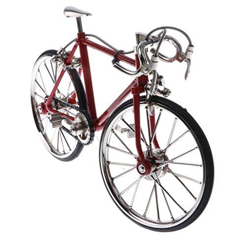 1:10 Scala Modellino Diecast Bici Da Corsa Bike Replica Gioco Collezione Lega Rosso