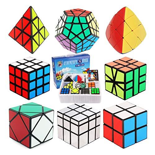 HXGL-Cubos Mágicos Cubo De Velocidad Conjunto Cubo Mágico Juego De Puzzle 2x2x2 3x3x3 Pirámide Espejo Megaminx Pyramorphix SQ1 Inclinación Cubo Conjunto Educativo Juguetes For Niños