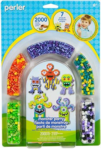 Perler Plastique Fun Fusion fusible activité kit Monster Party