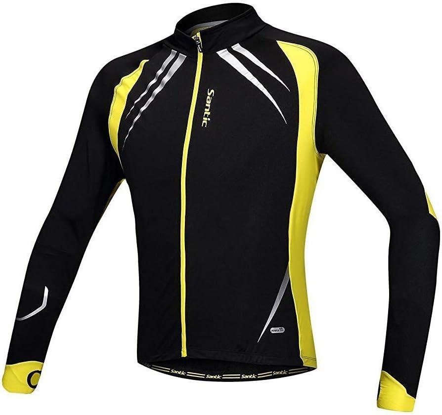 Santic Mens Cycling half Jacket Winter Topics on TV Windp Fleece coat Inner