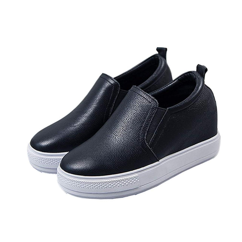 前進アベニュー退屈なインヒールスニーカー レディース スニーカー 厚底 本革 星柄 通気性 インソール シューズ 白 黒 インヒール シューズ 厚底シューズ 厚底スニーカー レディースシューズ インヒールシューズ 靴 女性用 厚底 スリッポン