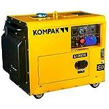 Compak DK6100SE-3 Groupe électrogène professionnel diesel 6,9 kVA 400 V