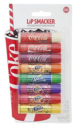 Lip Smacker Coca Cola Party, balsami per labbra, Confezione da 8