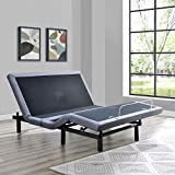 Marabell Adjustable Bed Frame Base with Massage, Wireless Remote and USB Ports (Queen)