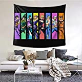 Hidreama JoJo's Bizarre Adventure Tapestry 3D Printing Wall Hanging Blanket Wall Art for Living Room Bedroom Home Decor60 X 51 Inches