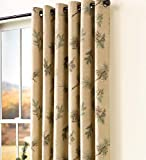 Plow & Hearth Thermalogic Insulated Peaceful Pine Grommet-Top Curtain Pairs, 63''L