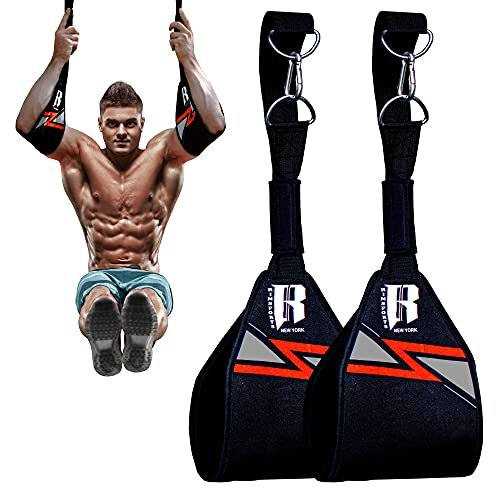 RIMSports Hanging Ab Straps for Pull Up Bar Attachment, Premium Ab Straps for Ab Workout, Gym Exercise Pullup Equipment for Men & Women, Fitness Arm Support for Abdominal Muscles Core Strength