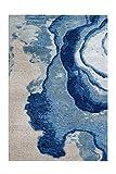 Arte Espina Alfombra Damasco 100 azul/gris 80 x 150 cm