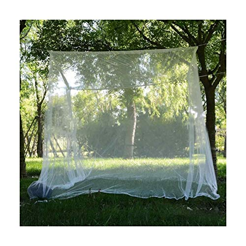 DDDCM 200x200x180cm Travel Camping Mosquito Net Repellent Tent Insect Reject 4 Corner Post Canopy Bed Curtain Bed Tent Hanging Bed (Color : White)