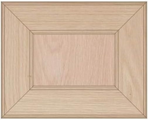 Kendor Unfinished Oak Mitered Flat Panel Cabinet Door, 8H x 10W