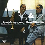 "album cover: ""The Great Summit: The Master Takes"" with Duke Ellington and Louis Armstrong"