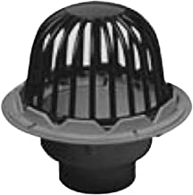 Oatey 78042 PVC Roof Drain with Cast Iron Dome and Dam Collar, 2-Inch