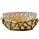 MotBach Fruta Plato - Adornos Vidrio Placa de Fruta artesanía casa Sala de Estar Mesa Decoraciones Creativa práctica Fruta Cesta