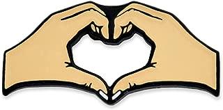 PinMart Two Hands Heart Friendship Love Cute Enamel Lapel Pin