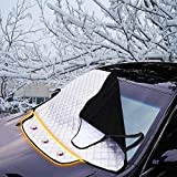 FREESOO Folding Waterproof Car Windshield Cover with Magnetic Frost Proof Sunshade Protection Front Windshield for Car SUV Anti UV Rain and Snow 190cm * 123 * 150cm