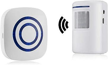 Alarma de seguridad, HausFine Inalámbrico Timbre de Alarma para la Puerta con Sensor de Movimiento PIR Infrarrojo Detector...
