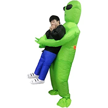 Rabusion Disfraces alienígenas inflables sacuden Halloween Alien ...