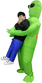 OUYAWEI Inflatable Alien Costumes Shake Halloween Alien Ghosts Inflatable Clothes Show Props