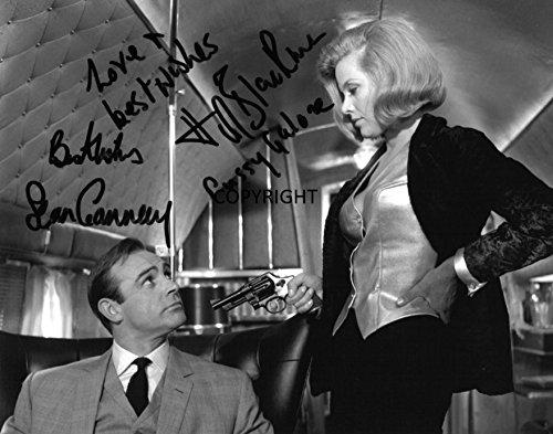 Signiertes Foto von Sean Connery Honor Blackman James Bond mit Zertifikat, limitierte Auflage